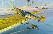 Steinhoff Tribute, Johannes Steinhoff Me-109E aviation art print by Robert Taylor