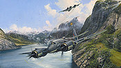 Strike and Strike Again, Bristol Beaufighter aviation art print by Robert Taylor