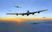 Target Bearing 270, Avro Lancaster Attack on the Tirpitz aviation art print by Robert Taylor