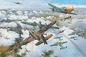 The Greatest Day - The Battle of Britain aviation art print by Robert Taylor