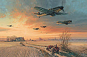 The Long Short Days - Me-109 JG26 aviation art print by Robert Taylor