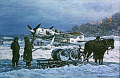 Against General Winter, FW-190 Kunstdruck von Ronald Wong