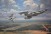 Boelcke's Bombers - Luftwaffe Eurofighters of FBW 31 aviation art by Ronald Wong