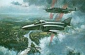 Falkenstaffel, F-4F Phantom JG74 aviation art by Ronald Wong