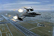 Flameout over Mildenhall, SR-71 Blackbird aviation art print by Ronald Wong