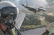 Freie Jagd, Eurofighter JG74 aviation art print by Ronald Wong
