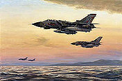 Maritime Patrol, RAF Tornado GR1B aviation art print by Ronald Wong