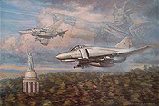 Warriors Salute, F4F Phantom JG72 aviation art print by Ronald Wong