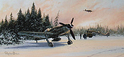 Eastern Front Eagles, Focke Wulf FW 190D-9 aviation art print by Stephen Brown