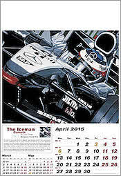 April McLaren Mercedes Motorsport Formel-1 GP Kalender 2015 von Colin Carter