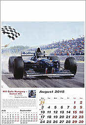 August Williams-Renault Formula-1 Art Calendar 2015 von Tony Smith