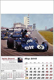 Mai Tyrrell-Ford Formula One Grand Prix Art Calendar 2015 by Tony Smith
