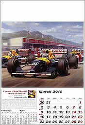 Maerz Williams-Renault Grand Prix Kalender Formel-1 2015 von Tony Smith