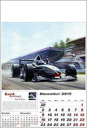 November McLaren-Mercedes Motorsport F1 Kalender 2015 von Tony Smith