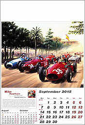 September Ferrari F1 Grand Prix Kunstkalender 2015 von Tony Smith