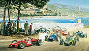 Stirlings Greatest Drive, Grand Prix Monaco 1961 F1 art print by Tony Smith